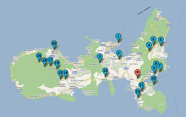Empfehlungswerte Ausflüge - Insel Elba - Residence della Luna