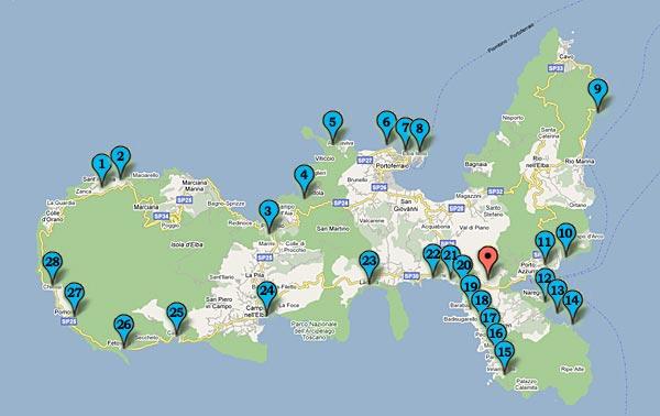 Cartina Elba Spiagge.Spiagge Isola D Elba Residence Della Luna